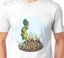 Greeny chases rabbits of his carrot patch ( 792 Views) Unisex T-Shirt