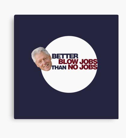 Clinton Humor Canvas Print