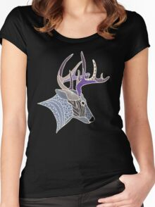Stag 2 Women's Fitted Scoop T-Shirt