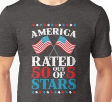 America Rated 50 out of 5 Stars Patriotic USA T-Shirt Unisex T-Shirt