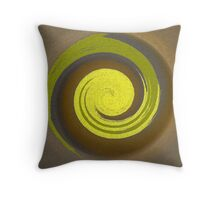 Yellow Twist Throw Pillow