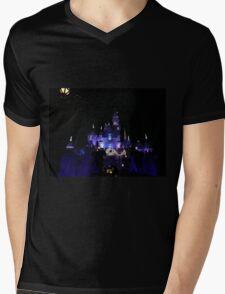 Disneyland Castle Diamond Celebration  Mens V-Neck T-Shirt