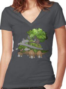 Torterra Women's Fitted V-Neck T-Shirt
