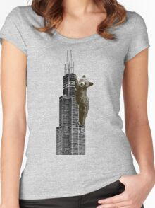 Sears Tower Cub Women's Fitted Scoop T-Shirt