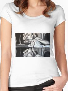 Dial M for murder Women's Fitted Scoop T-Shirt