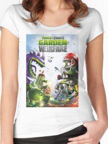 plants vs zombies warfare full Women's Fitted Scoop T-Shirt