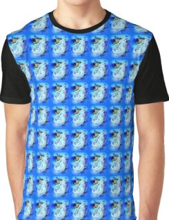 blue mermaid sitting Graphic T-Shirt