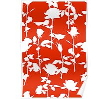 Roses (Coral Red) Poster