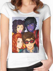 X Men Apocalypse Kids Women's Fitted Scoop T-Shirt