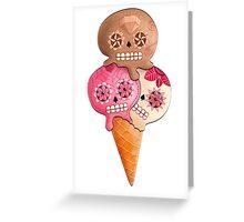 Sugar Skull Ice Cream Cone Greeting Card