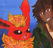 Leo Valdez And Flareon 3 by ChrisNeal
