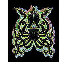 Neon Kraken Photographic Print