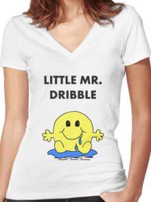 Mr Dribble Women's Fitted V-Neck T-Shirt