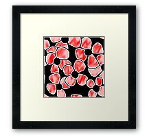 Shadow Flowers - Red Framed Print