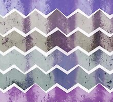 Corrugated Chevron Stripes - Storm Colorway by daisy-beatrice