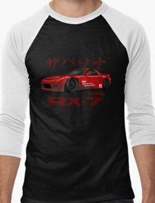 red RX-7 performance Men's Baseball ¾ T-Shirt