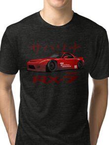 red RX-7 performance Tri-blend T-Shirt
