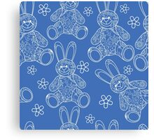 Seamless pattern with buny toys Canvas Print