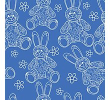 Seamless pattern with buny toys Photographic Print