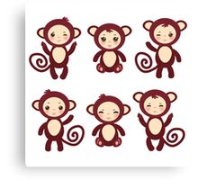 funny brown monkey  Canvas Print