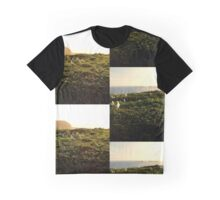 Seagull Sunset At The Nobbys No. 2 Graphic T-Shirt