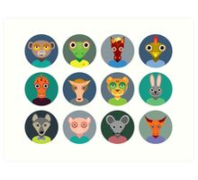 Chinese zodiac collection Art Print