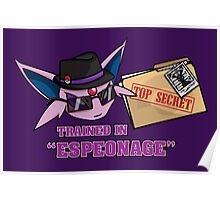 Espeonage (Pokemon) Poster