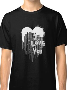 Painted Love - White & Black Classic T-Shirt