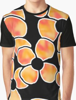 Shadow Flowers - Orange and Red Graphic T-Shirt
