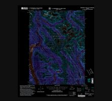 USGS TOPO Map Alaska AK Bradfield Canal A-1 354711 2000 63360 Inverted Unisex T-Shirt