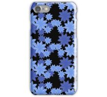 Floral Pattern Japanese Origami Style Blue iPhone Case/Skin