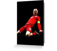Wayne Rooney - Captain England Greeting Card