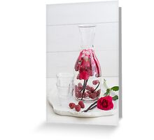 Infused water Greeting Card