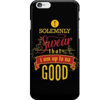 Harry Potter I Solemnly Swear That I Am Up To No Good  iPhone Case/Skin