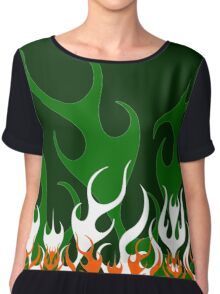 Irish Hot Rod Flames Chiffon Top