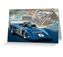 1969 Lola T163 Can-Am Greeting Card