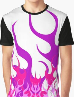 Hot Rod Flames Pink Purple Graphic T-Shirt