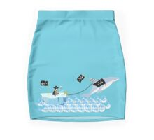 Pirate penguin and shark Mini Skirt