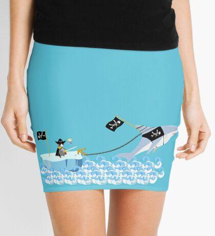 Pirate penguin and shark Mini Skirt