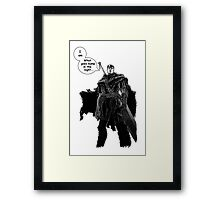 Berserk Manga - Bump in the Night Framed Print