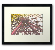 Ferris Wheel In Sunrise  Framed Print