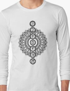 The Seven Chakras Mandala Long Sleeve T-Shirt
