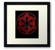galactic empire and first order emblem Framed Print
