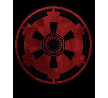 galactic empire and first order emblem Photographic Print