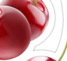 Sweet cherries falling Sticker