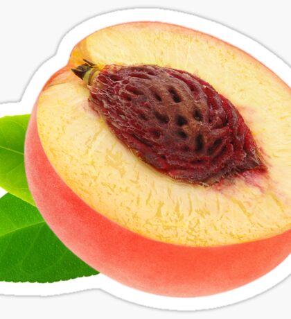 Half of peach Sticker