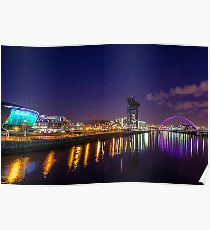 Clydeside at night Poster