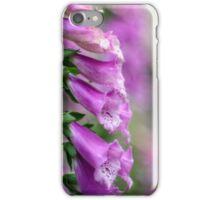 soft focus on pink foxgloves iPhone Case/Skin