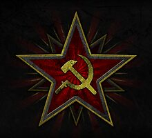 Soviet Hammer and Sickle Poster by Andrew Owen