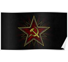Soviet Hammer and Sickle Poster Poster